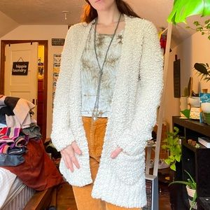 teddy bear white soft cardigan
